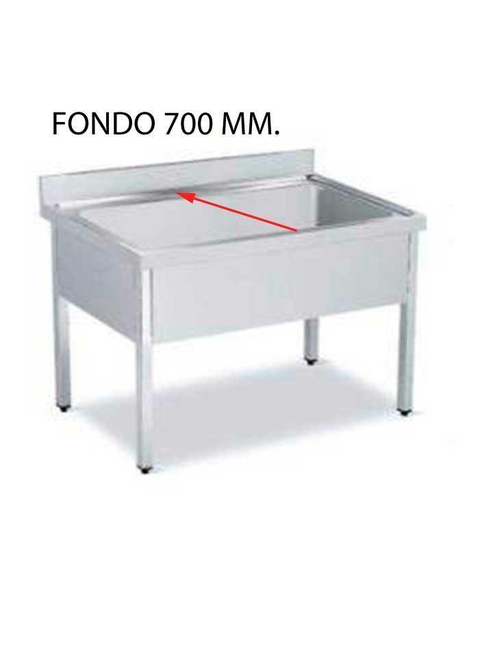 FREGADERO GRAN CAPACIDAD FONDO 700 MM