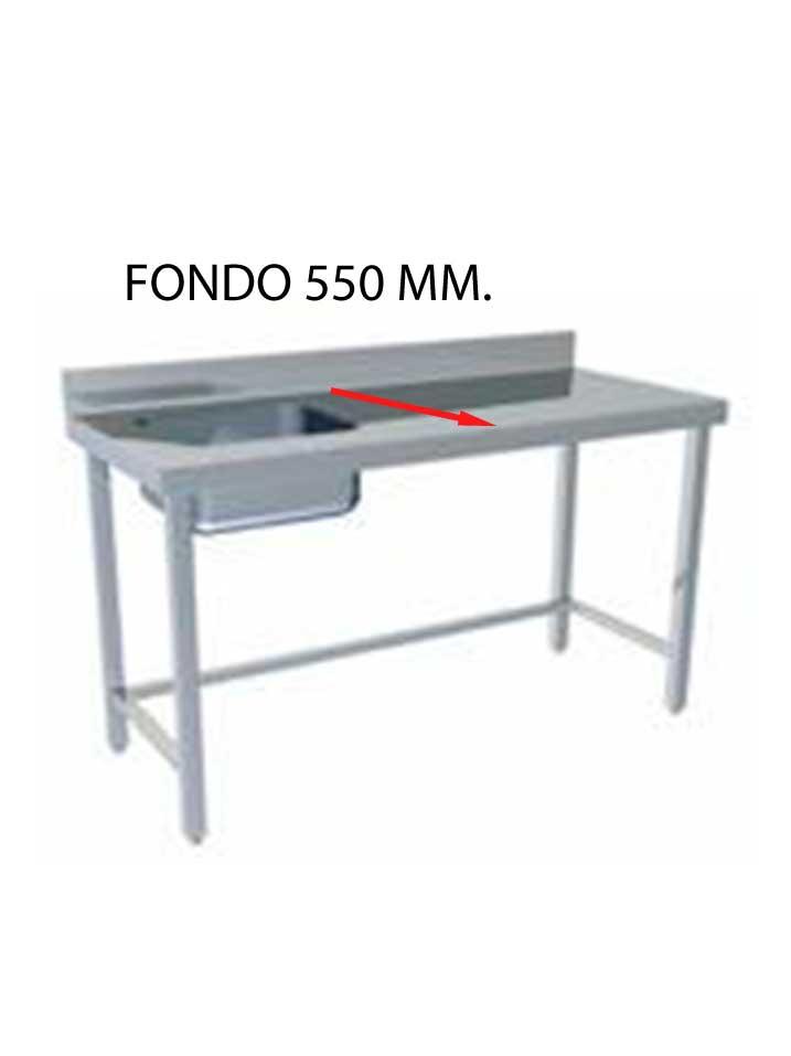 FREGADERO MONTADO FONDO 550 MM CON BASTIDOR SIN ESTANTE FF550MS-COF