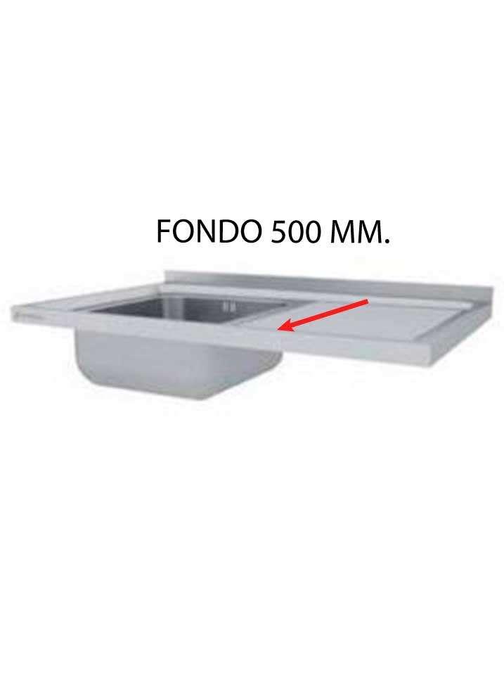 FREGADERO MONTADO FONDO 500 MM  FF500M-COF