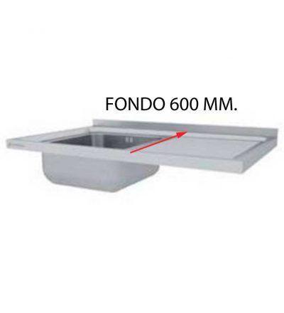 Fregadero fondo 600 mm desmontado