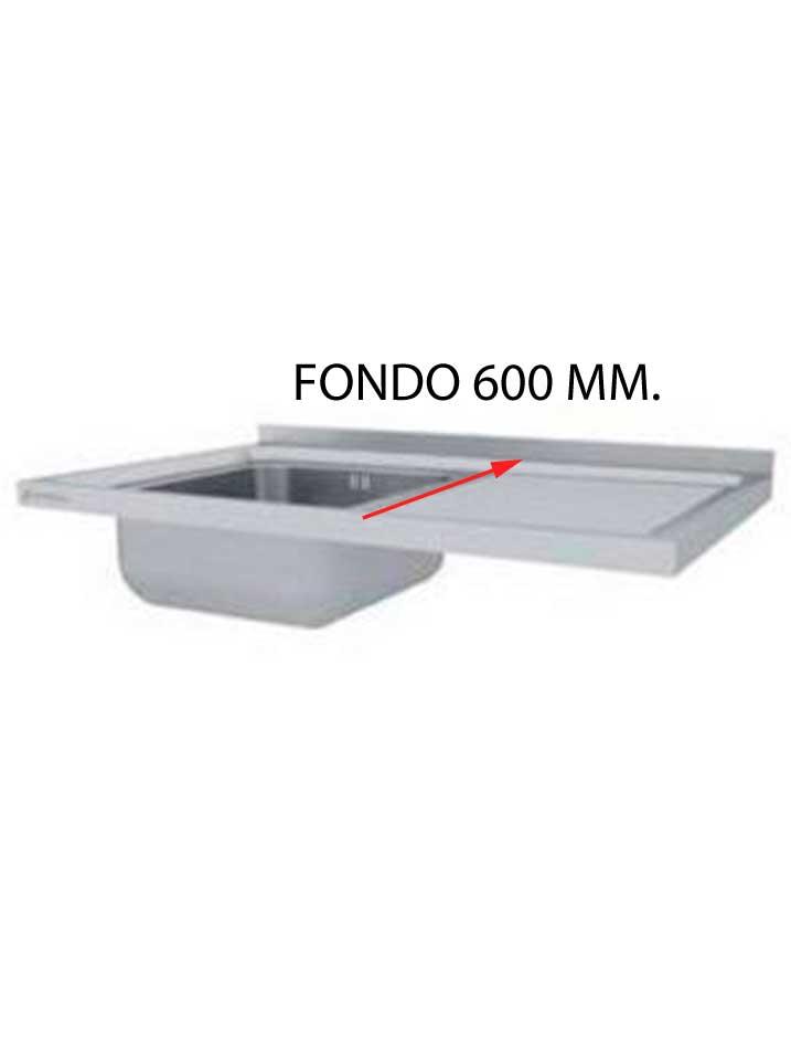 FREGADERO FONDO 600 MM DESMONTADO FF600D-COF