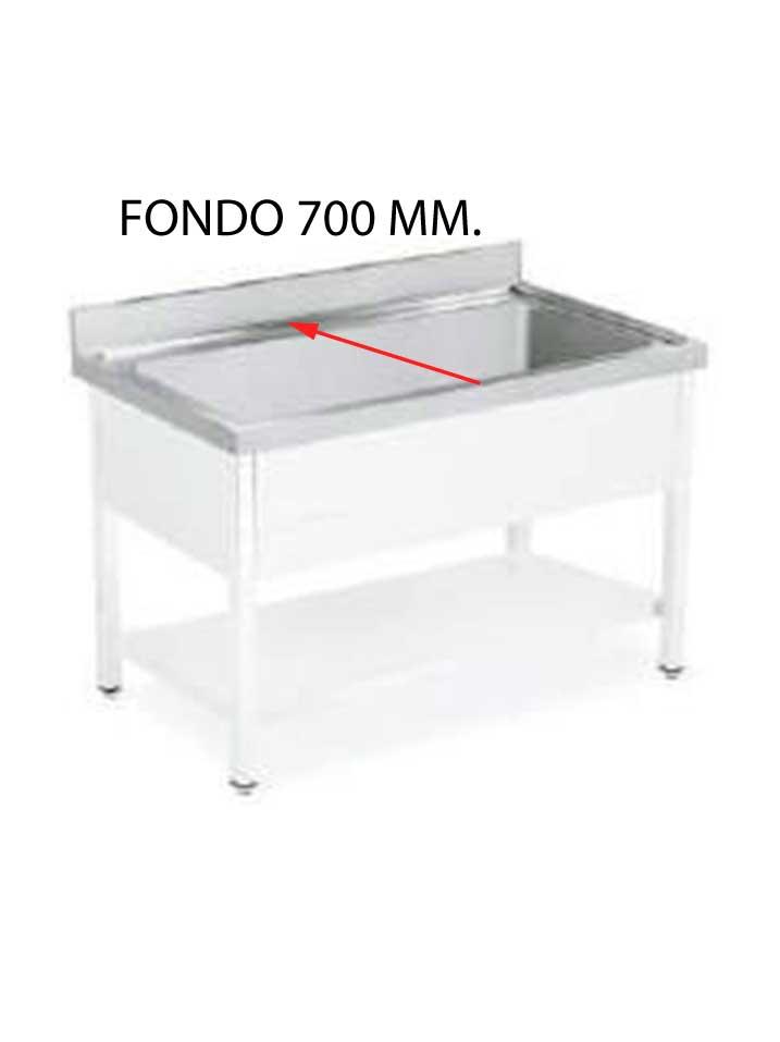 FREGADERO GRAN CAPACIDAD FONDO 700 MM DESMONTADO GCF700D-FGC107/FGC207-COF
