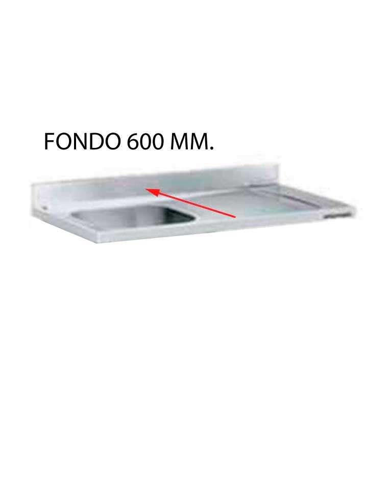 FREGADERO FONDO 700 MM HUECO LAVAVAJILLAS DESMONTADO FF700LD-F107/F187-COF