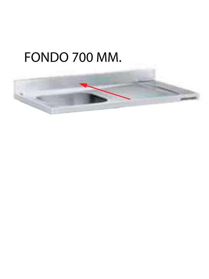fregadero hueco lavavajillas sin bastidor fondo 700 - FREGADERO FONDO 700 MM HUECO LAVAVAJILLAS DESMONTADO FF700LD-COF