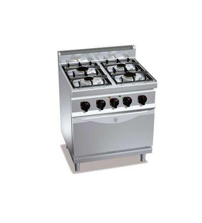 Cocina a gas 4 fuegos y horno eléctrico