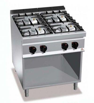 Cocina a gas 4 fuegos y mueble