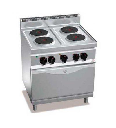 Cocina electrica 4 fuegos y horno eléctrico