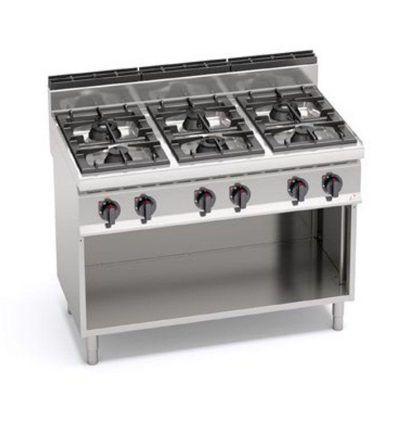 Cocina a gas 6 fuegos y mueble