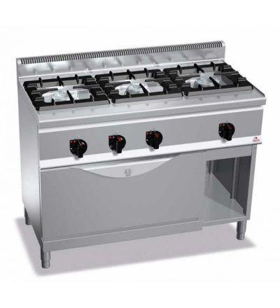 Cocina a gas 3 fuegos y horno maxi