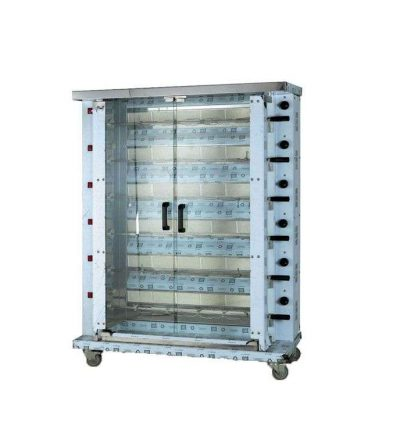 Asador de pollos a gas de 1080, 1480 y 1880 mm. altura