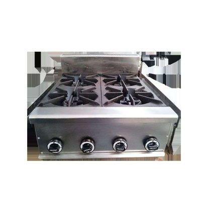 Cocina sobremesa a gas 4 fuegos 11,2 Kw.