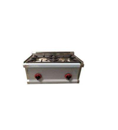 Cocina sobremesa a gas 7 Kw. 2 fuegos