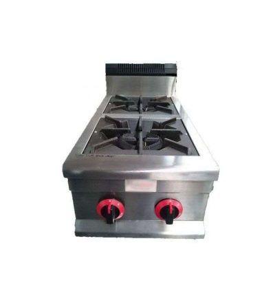 Cocina sobremesa a gas 2 fuegos en vertical