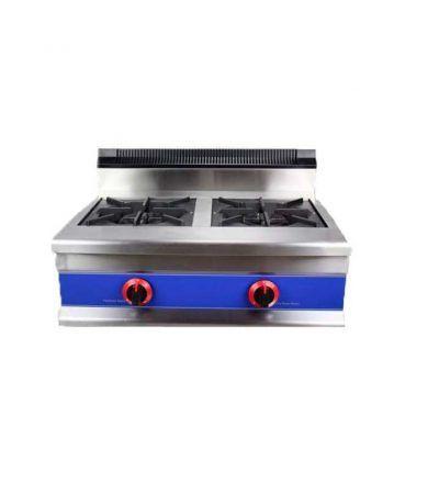 Cocina a gas de sobremesa 2 fuegos