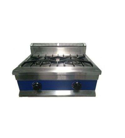 Cocina sobremesa a gas 6Kw 2 fuegos