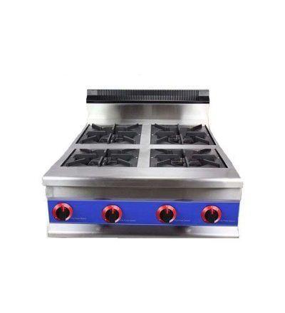 Cocina sobremesa a gas 4 fuegos