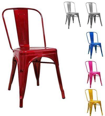 Silla Torix metyalizada varios colores
