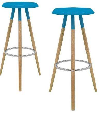 Set dos taburetes nórdicos KEVER color azul