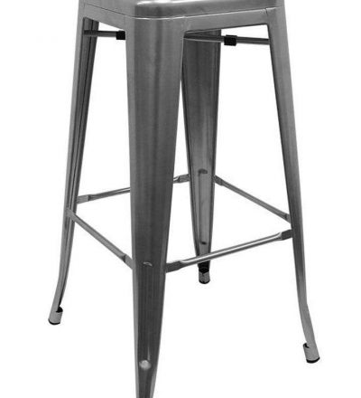 Taburete industrial TORIX color gris metalizado