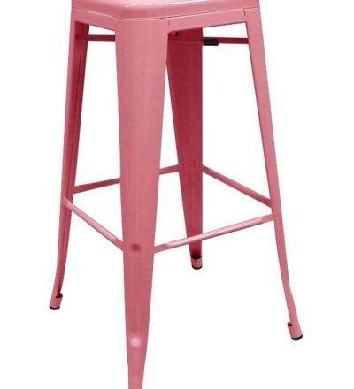 Taburete industrial TORIX rosa