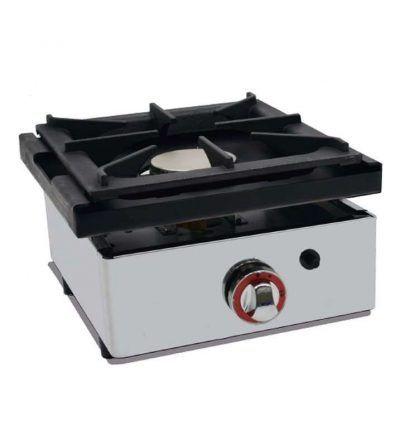 Cocina a gas 1 fuego 40 sobremostrador