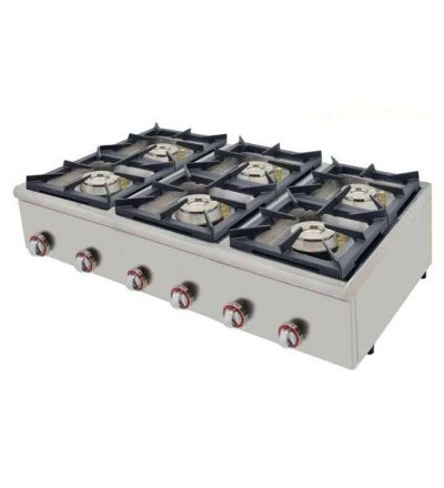 Cocina a gas 6 fuegos plus 120 fondo 75