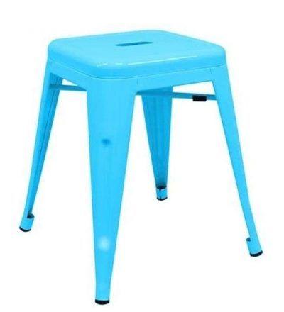 Taburete industrial TORIX PEQUEÑO color azul