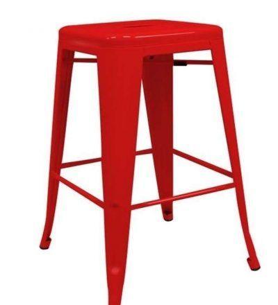 Taburete industrial cocina TORIX color rojo