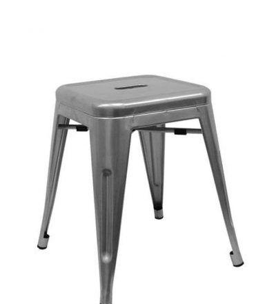 Taburete industrial TORIX PEQUEÑO gris metalizado