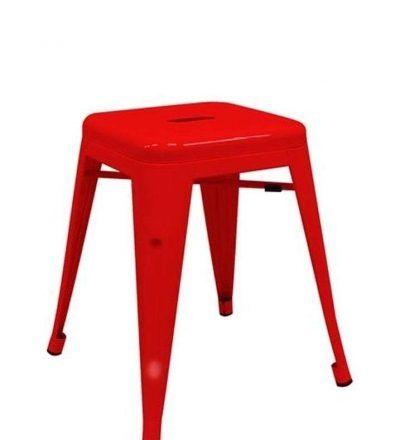 Taburete industrial TORIX PEQUEÑO color rojo
