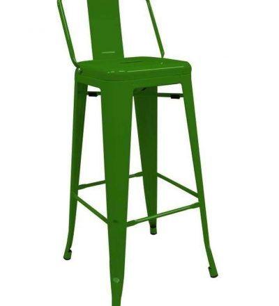 Taburete industrial TORIX respaldo verde