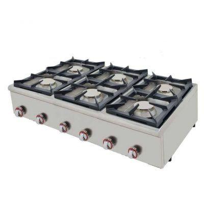 Cocina a gas 6 fuegos basic 120 fondo 75