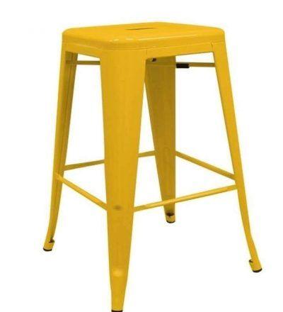 Taburete industrial cocina TORIX color amarillo