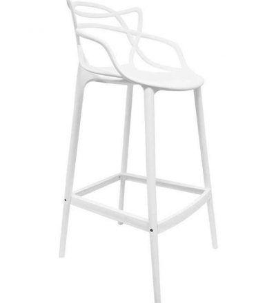Taburete diseño POWER color  blanco