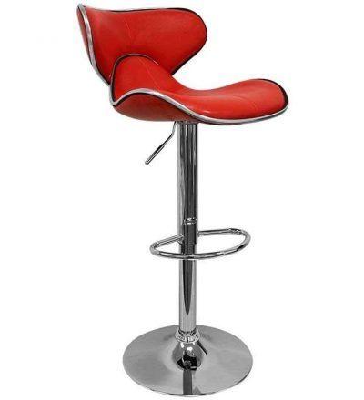Taburete diseño LESTER color rojo
