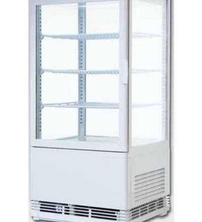 Vitrina frigorífica vertical puerta curva blanca