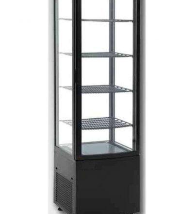 Vitrina frigorífica vertical grande puerta curva