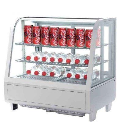 Vitrina fria sobremostrador blanca 100 litros