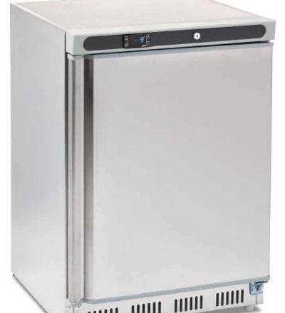 Congelador bajo mostrador inoxidable 140 litros