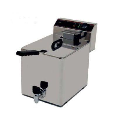 Freidora eléctrica con grifo vaciado 10 L FECGV-EVO10G-ARX