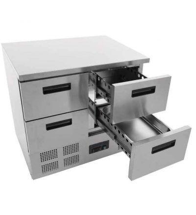 Mostrador frigorífico cuatro cajones 240 L