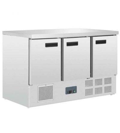 Mostrador frigorifico 3 puertas acero inoxidable  368 L