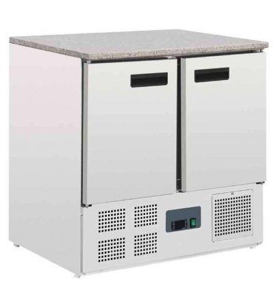 Mostrador frigorífico 2 puertas superficie mármol 240 L