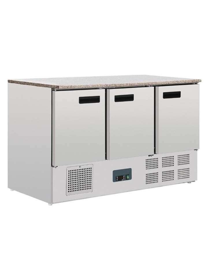 Mostrador frigorífico 3 puertas superficie mármol  368 L
