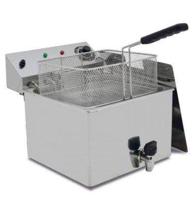 Freidora eléctrica con grifo vaciado 12 L PLUS