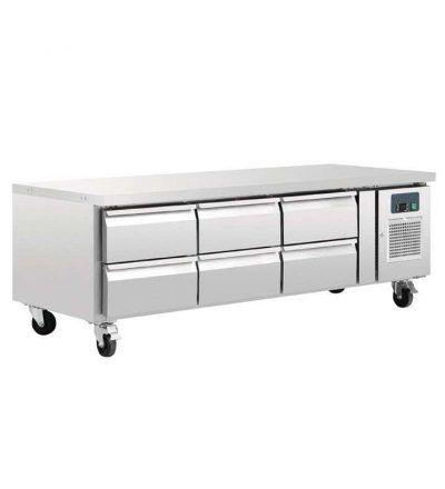 Mostrador frigorífico chef bases gastronorm 6 cajones   317 L