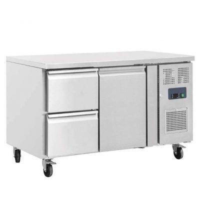 Mostrador frigorífico 2 puertas y dos cajones 417 L