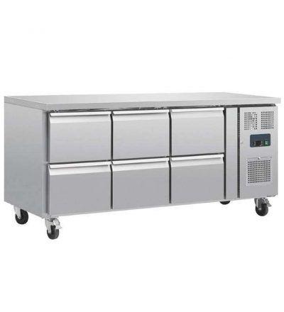 Mostrador frigorífico 6 cajones 465 L