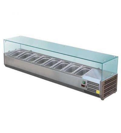 VITRINA 8C D877NI 400x440 - Vitrina expositora refrigerada 8 cubetas GN 1/3