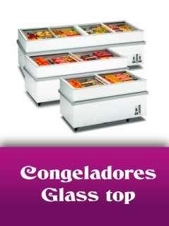 Congeladores glass top